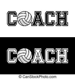 camiseta, entrenador, tipografía, vector