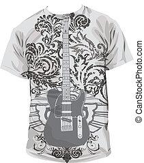 camiseta, ilustración