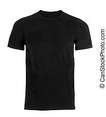 camiseta, negro