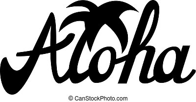 camiseta, otro, usos, aloha, ilustración