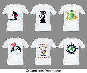 camiseta, plantillas de diseño