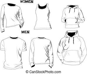 camiseta, plantillas