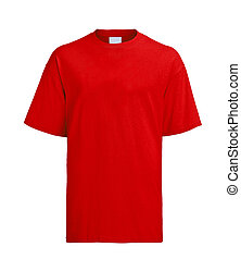 camiseta, rojo