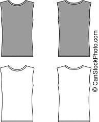 camiseta, sin mangas