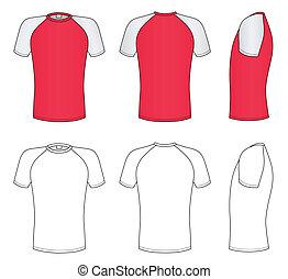 camiseta, vector, ilustración