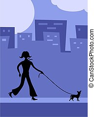 camminando cane