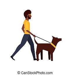 camminando cane, disegno