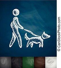 camminando cane, icona