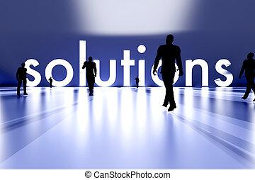 camminando verso, soluzione