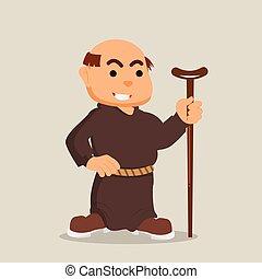 camminare, monaco, bastone