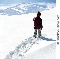 camminare, neve