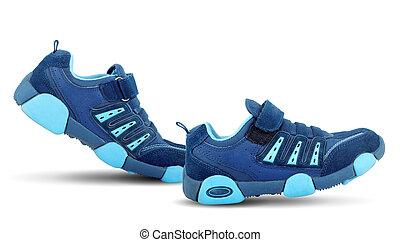 camminare, scarpe tennis, essi stessi