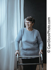 camminatore, donna senior