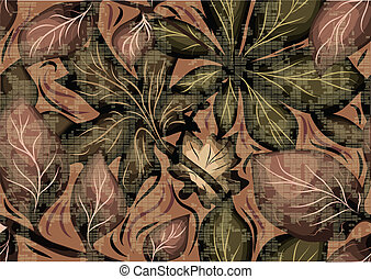 camo as pattern of leaves. 10 EPS