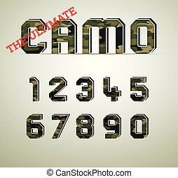 CAMO Character Set, detailed vector font