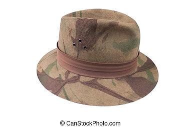 camo fedora style felt hat - Camouflage felt fedora style...