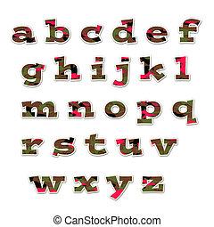 Camo Girl Lowercase Alphabet - lowercase alphabet