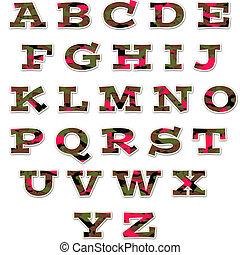 Camo Girl Uppercase Alphabet - uppercase alphabet