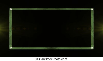 Camo green box - Camouflage box animation with white page...