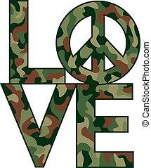 camo, love=peace