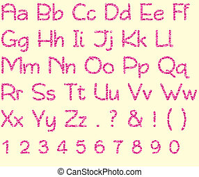 Camo Pink Alphabet & Number Set