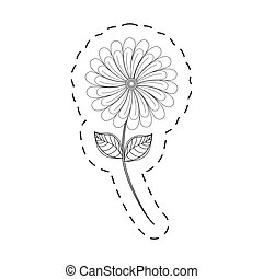 camomile flower decoration cut line