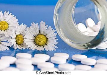 camomille, et, homéopathique, médicament