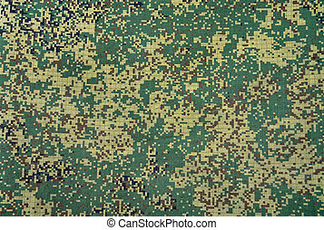 Camouflage army texture with visible canvas pattern