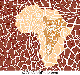 Camouflage background with giraffes