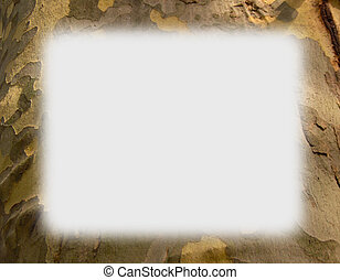 Camouflage Tree Trunk Border - Get creative & use card stock paper to print this out. Frame that picture & give it as a gift. Many things to do with borders, frames & background designs.