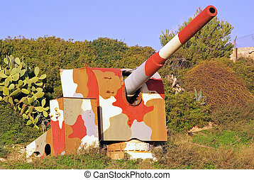 Camouflage cannon