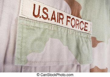 Camouflage desert uniform