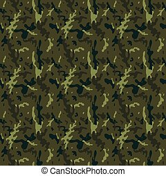 Camouflage Forest Seamless Tile Pattern - Camouflage Forest...