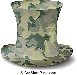 camouflage hat - new royalty free military style top hat...