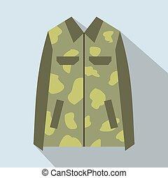 Camouflage jacket cartoon icon
