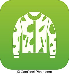 Camouflage jacket icon digital green
