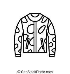 Camouflage jacket icon, outline style