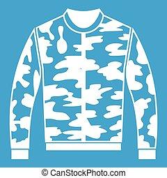 Camouflage jacket icon white