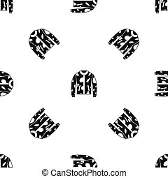 Camouflage jacket pattern seamless black