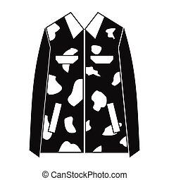 Camouflage jacket simple icon