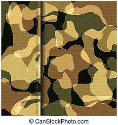 Camouflage khaki texture - Camouflage khaki abstract texture...