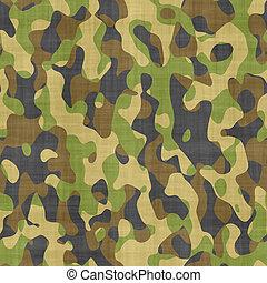 camouflage, klæde