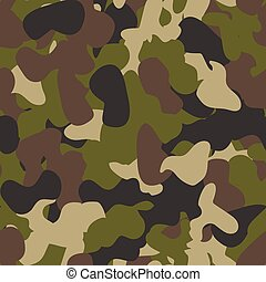 Camouflage military seamless pattern vector