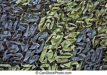 Camouflage net background