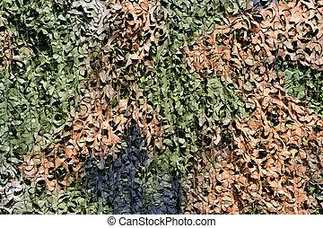 Camouflage net - Leaf camouflage net background
