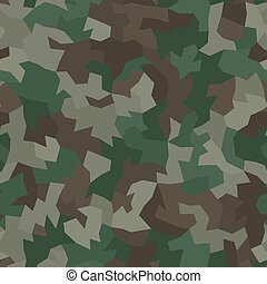 Camouflage pattern background. Classic clothing style masking camo repeat print