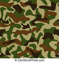 Camouflage pattern - Seamless camouflage pattern green and...