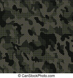 Camouflage pattern with dots Vector illustrationfor for your...