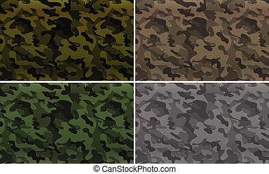 Camouflage pattern with military theme