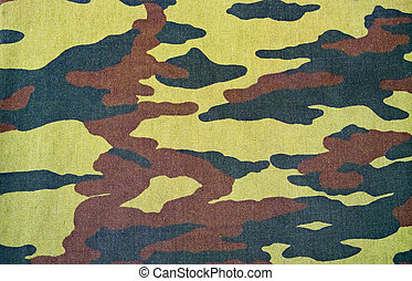 camouflage pattern with rough realistic fabric texture